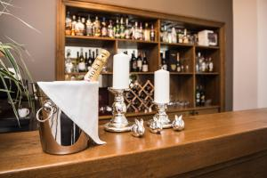 The lounge or bar area at Grottger Luxury Boutique Hotel City