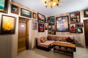 Гостиная зона в Guest House Moskvich