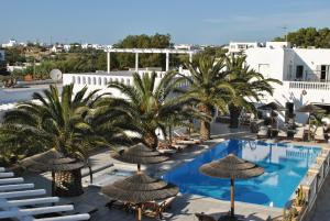 A view of the pool at Petinaros Hotel or nearby