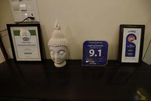 A certificate, award, sign, or other document on display at Hotel Yog Vashishth