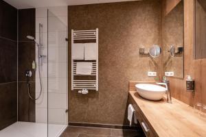 A bathroom at Das Weitblick Allgäu