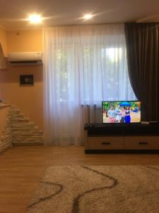 A television and/or entertainment center at Apartment on Dvortcovoy
