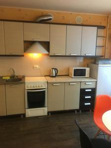 A kitchen or kitchenette at Apartment on Dvortcovoy