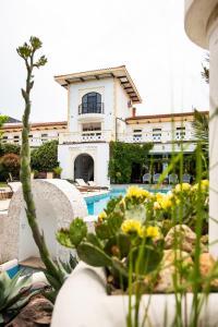 O vedere a piscinei de la sau din apropiere de Vila Pontica
