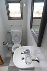 A bathroom at David Hostel