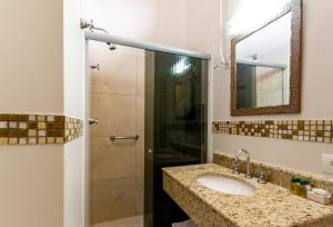 A bathroom at Hotel Nevada