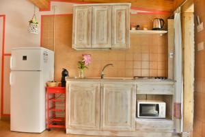 Küche/Küchenzeile in der Unterkunft Flowery Inn Villa