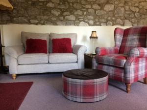 A seating area at Higher Carthew Farm