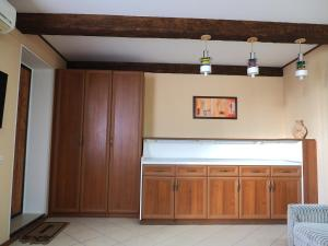 Кухня или мини-кухня в apartment na Zavetnoi
