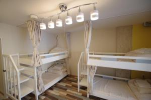 シナモンゲストハウス道後にある二段ベッド