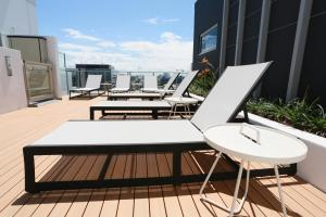A balcony or terrace at Alex Perry Hotel & Apartments