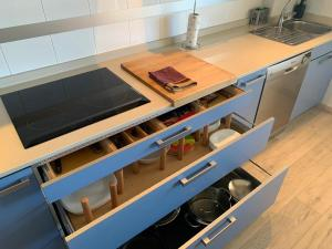 A kitchen or kitchenette at Corcubion - Terrace Sea View