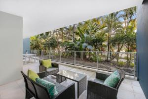A balcony or terrace at Azzura Greens Private Apartments