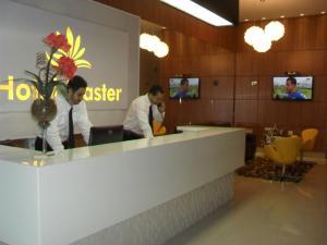 Лобби или стойка регистрации в Hotel Master
