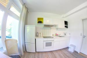 Küche/Küchenzeile in der Unterkunft Pension zur Post