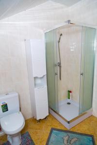 A bathroom at Усадьба в камышах