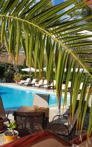 The swimming pool at or near Agrili Apartments & Rooms