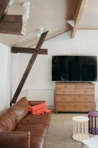 TV tai viihdekeskus majoituspaikassa Wiurilan Wintti