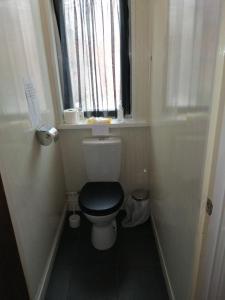 A bathroom at The Garnett