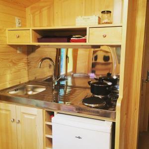 Cuisine ou kitchenette dans l'établissement Chambres d'hôtes Au Bonheur Du Parc