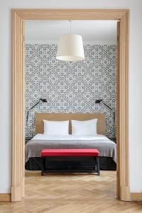 Cama o camas de una habitación en Neiburgs Hotel