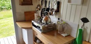 A kitchen or kitchenette at Caban Bryn Arw