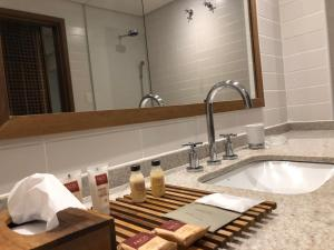 A bathroom at Hotel Villa Amazônia