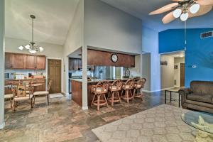 A restaurant or other place to eat at Riverfront Home with Private Dock, Fire Pit!