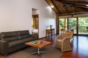 A seating area at Rose Gums Wilderness Retreat