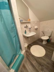 Koupelna v ubytování Ubytování na Lesní