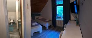 Postel nebo postele na pokoji v ubytování Ubytování na Lesní