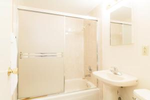 A bathroom at English Bay Hotel