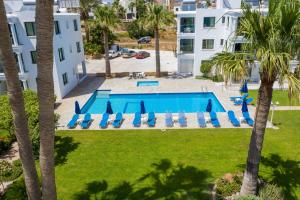 A view of the pool at Rododafni Beach Apartments or nearby