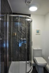 A bathroom at The Angel Hotel