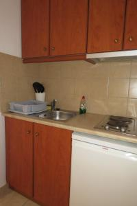 A kitchen or kitchenette at Corali Hotel Beach Front Property