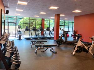 The fitness center and/or fitness facilities at DoubleTree by Hilton Madison Downtown