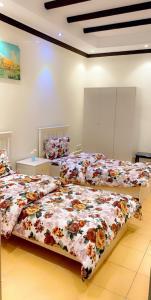 Cama ou camas em um quarto em شاليه باصمد للهدوء والاسترخاء