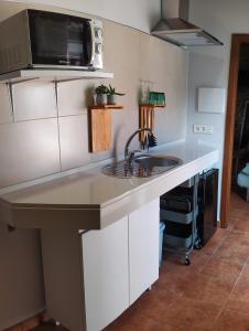 "A kitchen or kitchenette at Remanso de Trasfontao ""Casa do Campo"""