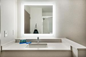 A bathroom at Holiday Inn Express Queensbury-Lake George Area, an IHG Hotel