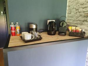 Een keuken of kitchenette bij de Hoeksche Loods B&B