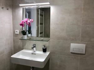 Koupelna v ubytování Business Apartments