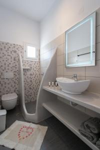 A bathroom at Aristeides - Moscha Apartments