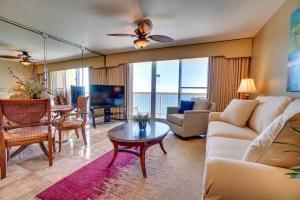 A seating area at Beach Front 18th Flr, Best Ocean View, New Upgrades