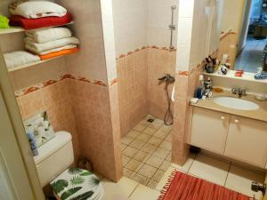 Um banheiro em Kohutahia Lodge Tahiti Room pick-up needed 7 minutes by car from airport and Town