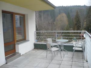 Balkón nebo terasa v ubytování Apartmán Anežka