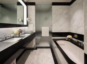 A bathroom at Badrutt's Palace Hotel St Moritz