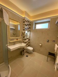 A bathroom at Villas Arbia - Magdalena