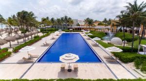 Uitzicht op het zwembad bij Dreams Tulum Resort & Spa of in de buurt