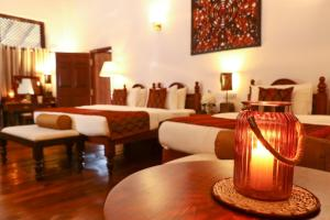 The lounge or bar area at The Heritage Hotel Galle Fort