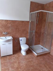 Koupelna v ubytování Stáj Zakšín - špejchar
